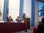 Moderator: Alumna Ricja Rice, '03 addresses attendees