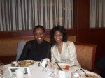 Director of Diversity, Pershia Wilkins visits with alumna Dionne Wheatley, '94