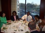 Judge Helena Heath-Roland, Professor C. Benjie Louis and alumni enjoys dinner
