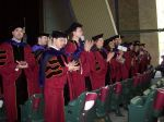 Graduates recognize and applaud their family and friends