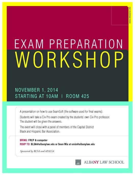 exam prep flyer
