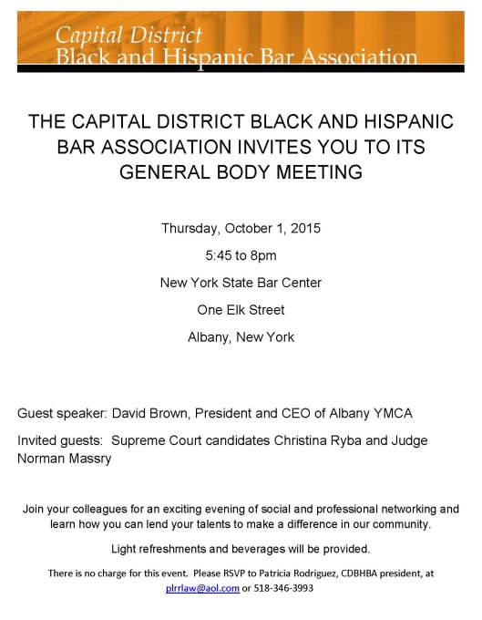 CDBHBA--general body meeting flyer