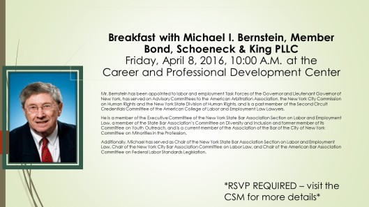 Michael Bernstein Flyer
