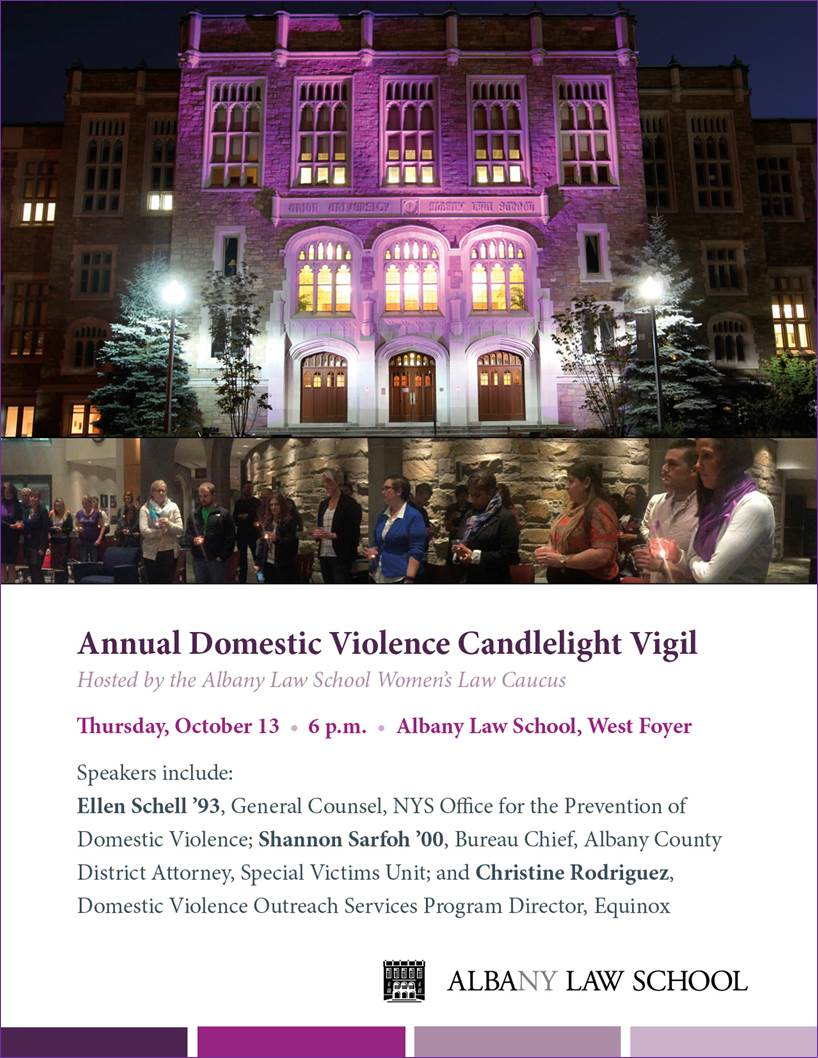 Join Us For Our Annual Domestic Violence Candlelight Vigil